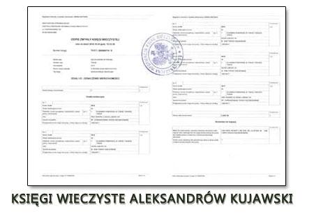 Księgi Wieczyste Aleksandrów Kujawski