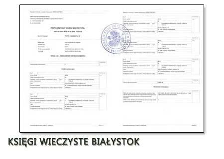 Księgi Wieczyste Białystok