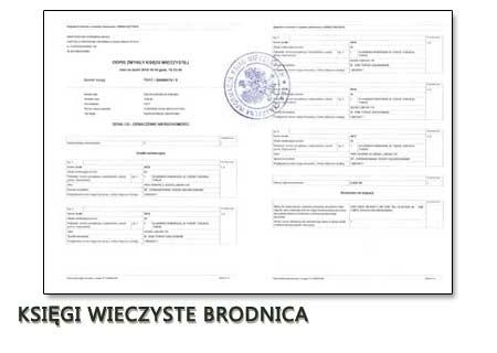 Księgi Wieczyste Brodnica