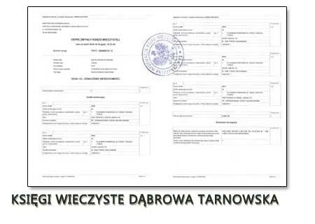 Księgi Wieczyste Dąbrowa Tarnowska