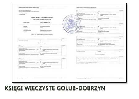 Księgi Wieczyste Golub-Dobrzyn