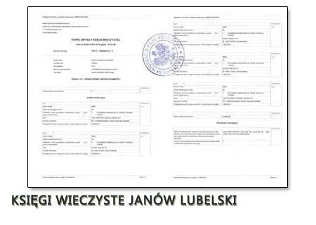 Księgi Wieczyste Janów Lubelski