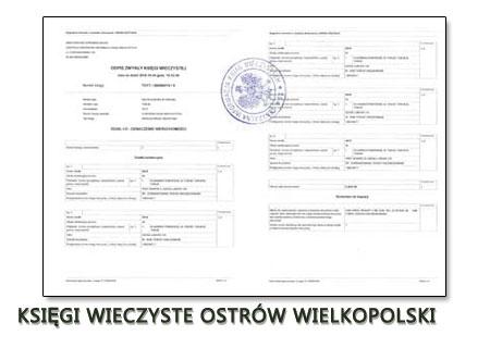 Księgi Wieczyste Ostrów Wielkopolski