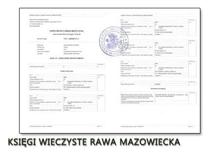 Księgi Wieczyste Rawa Mazowiecka
