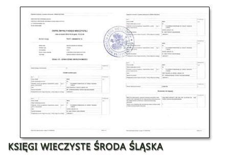 Księgi Wieczyste Środa Śląska