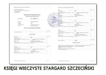 Księgi Wieczyste Stargard Szczeciński