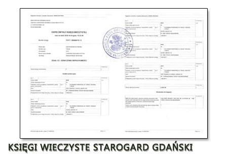 Księgi Wieczyste Starogard Gdański