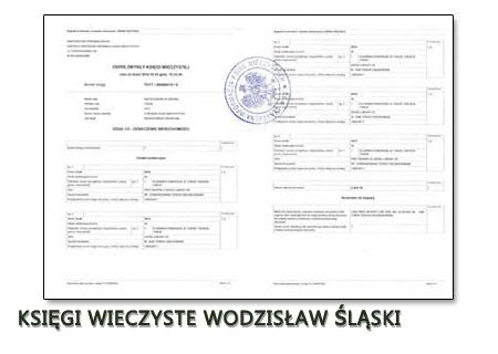 Księgi Wieczyste Wodzisław Śląski